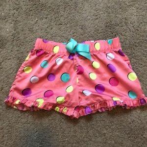 Pink youth medium pajama shorts